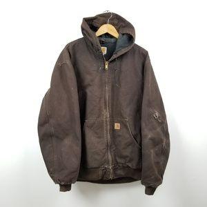 Carhartt Mens Work Coat Jacket Lined XLT Tall